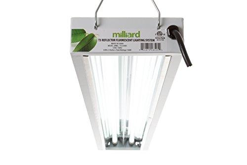 home shop grow lights milliard 4 ft 2 bulb t5 grow light system. Black Bedroom Furniture Sets. Home Design Ideas