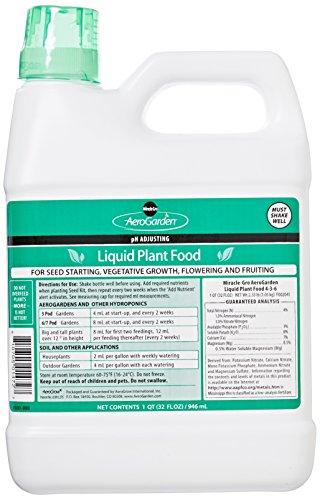 Aerogarden liquid nutrients 1 quart with more for Indoor gardening nutrients